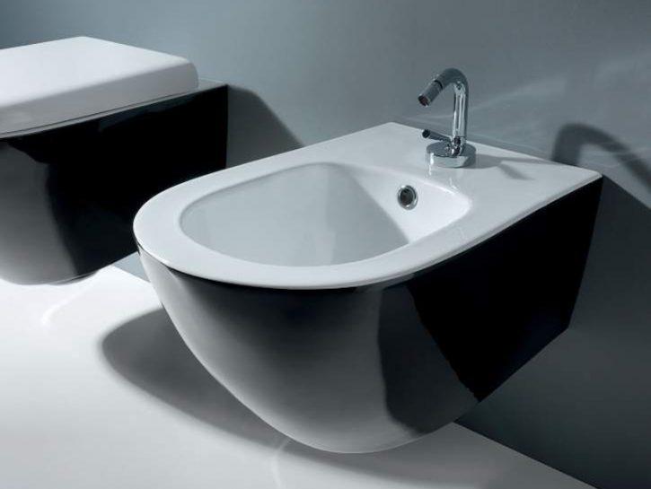Kerasan - Aquatech - Bidet e vaso bianco nero - by M. Cicconi