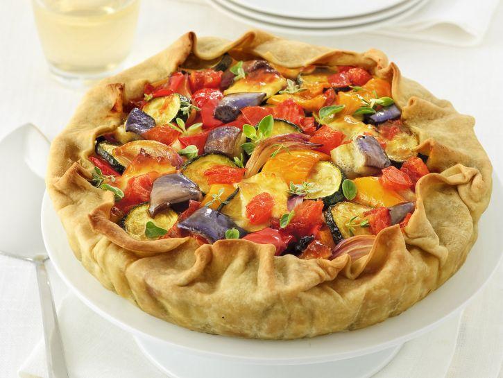 torta-salata-con-ratatouille-e-primosale foto