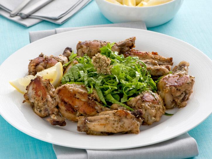 Ali di pollo marinate