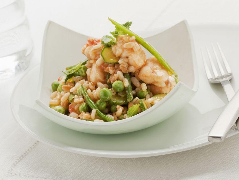 cereali-con-pesce-e-verdure immagine