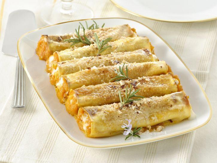 cannelloni-di-zucca-e-formaggio-di-capra foto