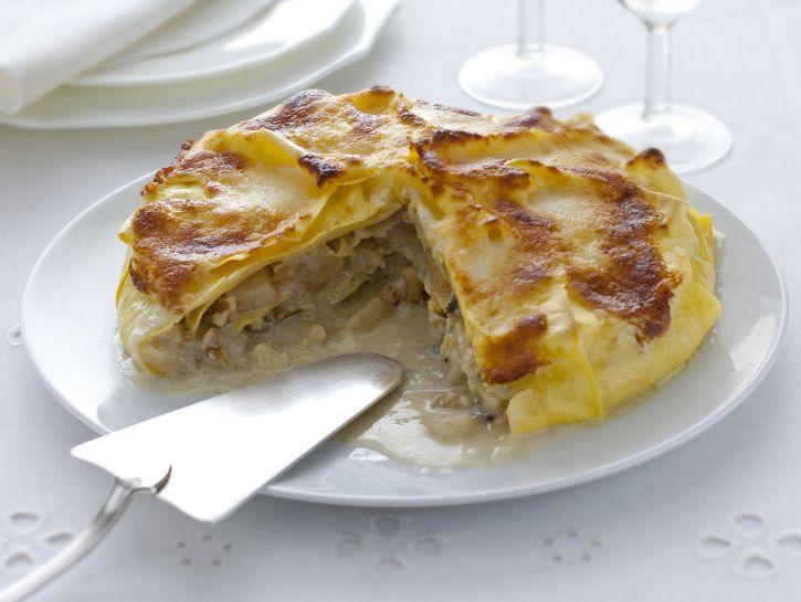 torta-di-lasagne-con-gorgonzola-e-pere immagine