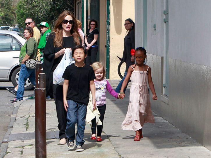 Angelina Jolie e la prole