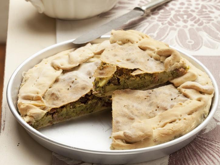 torta-di-broccoletti-e-salsiccia-piccante preparazione
