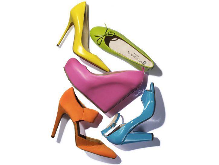 cover scarpe fluo