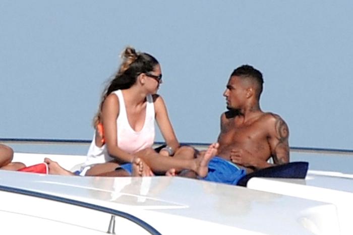 Melissa Satta e Kevin Prince Boateng in barca