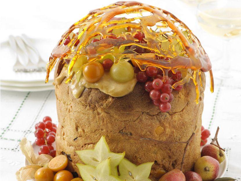 panettone-con-frutta-esotica-e-cupola-di-caramello ricetta