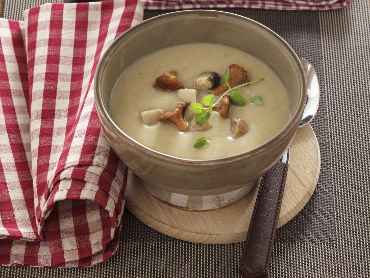 crema-di-patate-con-funghi-misti preparazione