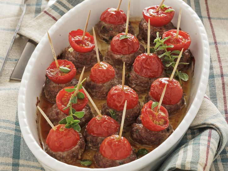polpette-al-forno-con-pomodorini preparazione