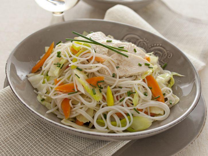 spaghettini-di-riso-pollo-e-verdure immagine