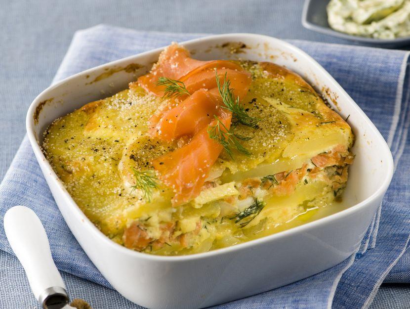 lax-pudding-con-salmone-affumicato-e-aneto ricetta
