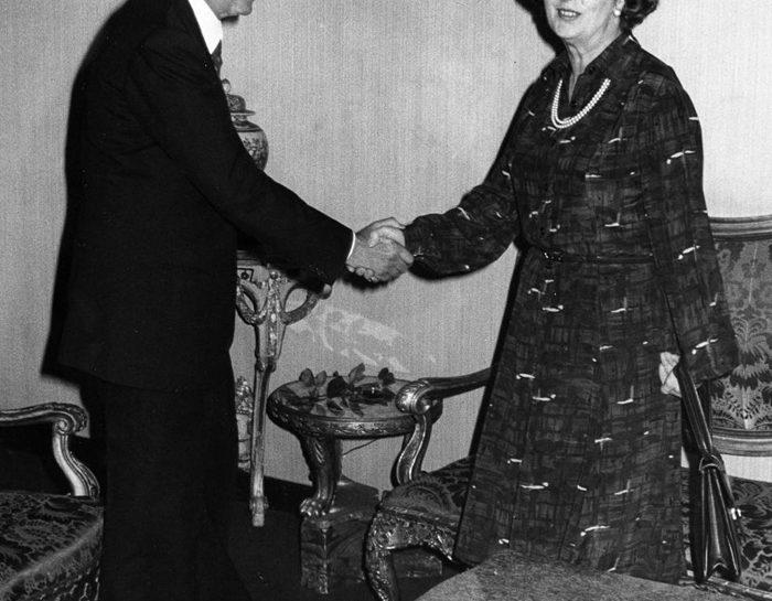 La Thatcher a Roma