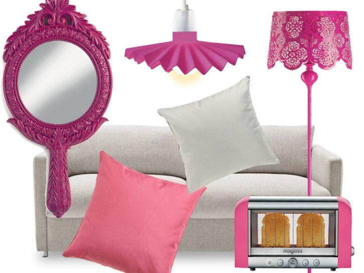 Una cucina in rosa