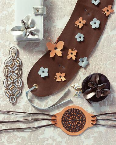 Come fare cintura fai da te farfalle e fiori