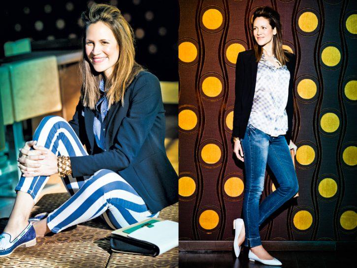 Moda: pantaloni e scarpe basse
