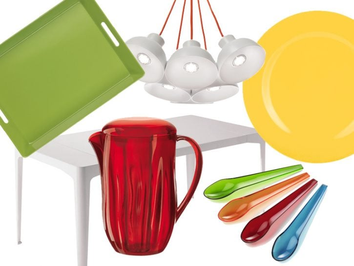 Zona pranzo a tutto colore
