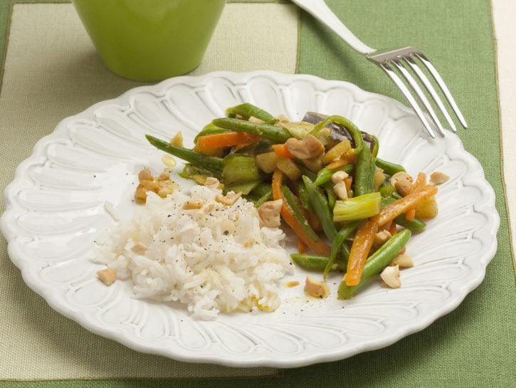 Riso pilaf con verdure al curry