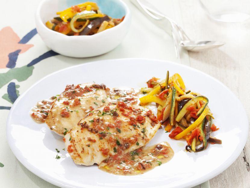 scaloppine-di-pollo-alla-mediterranea preparazione