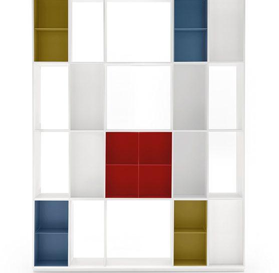 La libreria in stile Mondrian
