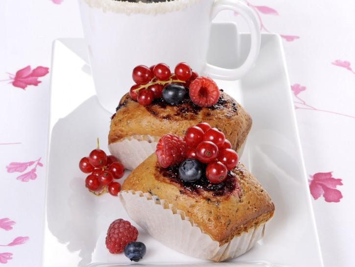 Plumcake ai frutti di bosco con caffè