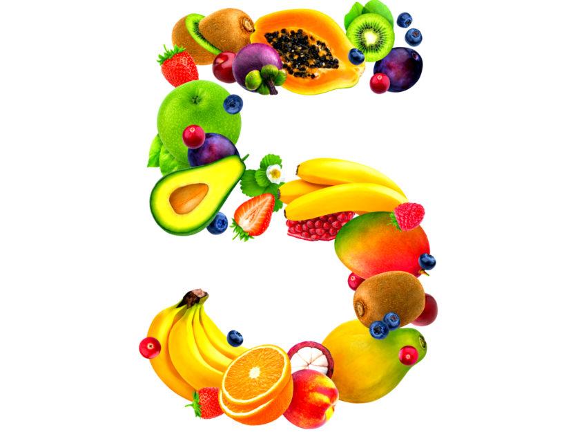 frutta e verdura: i 5 colori del benessere