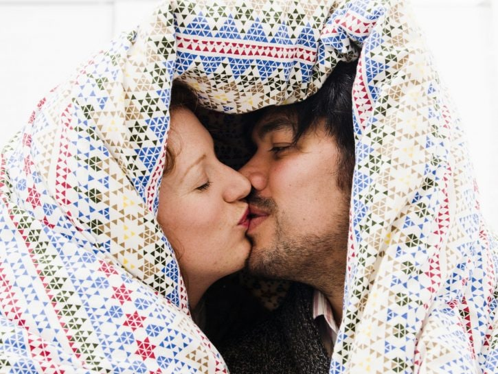 Fare pace: bacio della buona notte