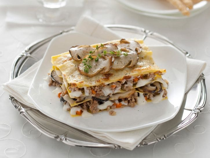 Lasagne con porcini e fontina