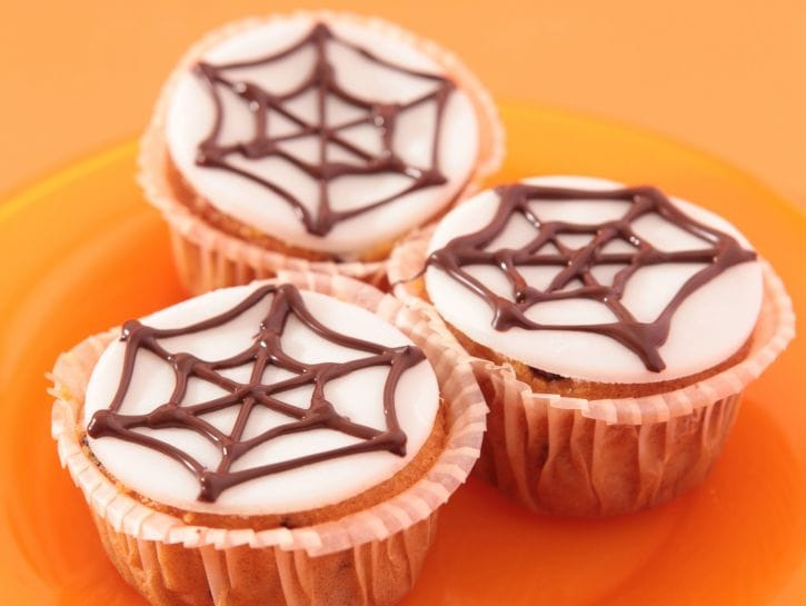 muffin-con-ragnatela-di-cioccolato