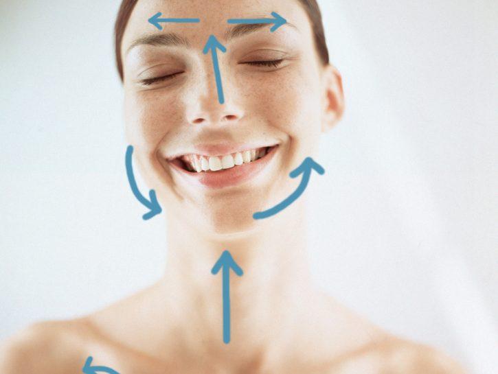 Massaggio viso drenante