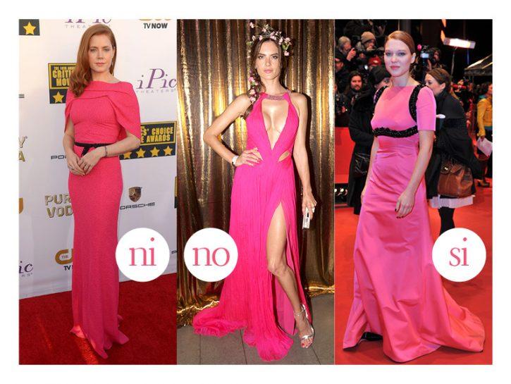 Si Lea Seydoux, in abito lungo Prada, indossa il fucsia con eleganza e non commette l'errore di agg