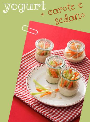 Yogurt, carote e sedano