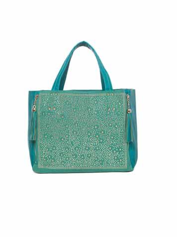 Maxi bag verde acqua per l'estate
