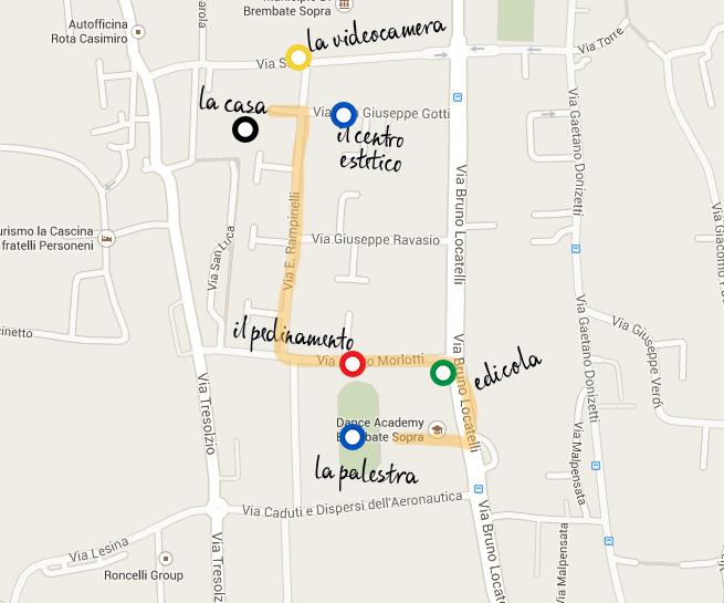 Mappa rapimento Yara per blog