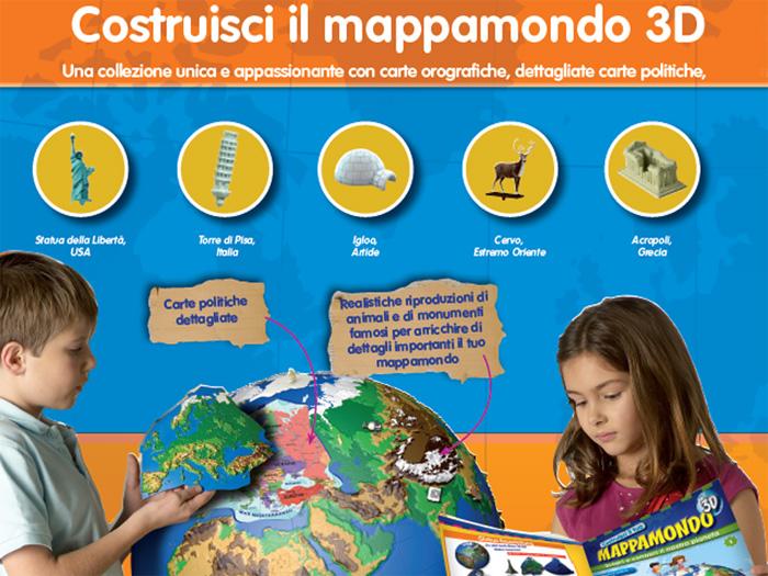 mappamondo 3d