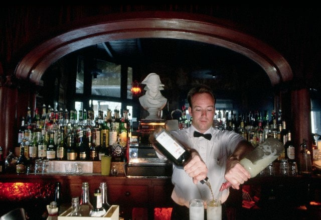 Bartender Mixing a Pimm's Cup