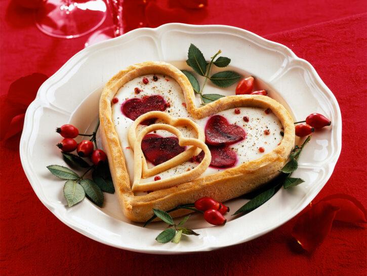 Cuore di sfoglia di San Valentino