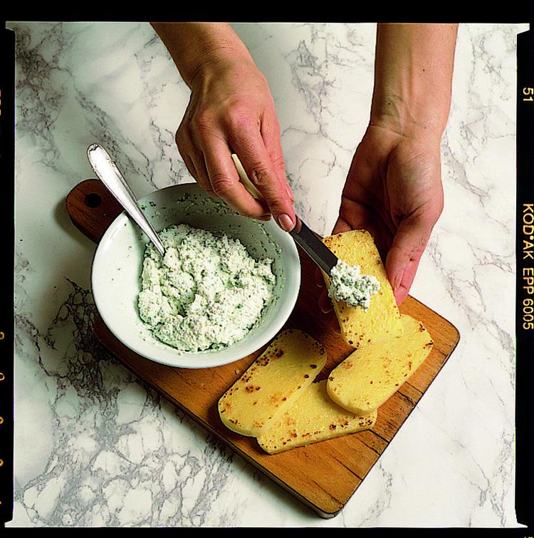 Ricetta Crostoni Di Polenta E Lardo