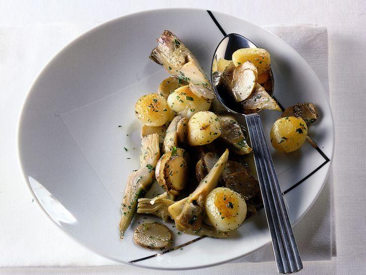 topinambur-patate-e-carciofi-stufati ricetta