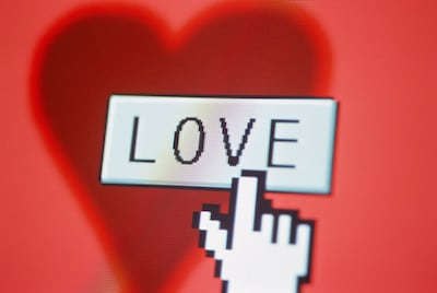 Love symbol as computer graphic