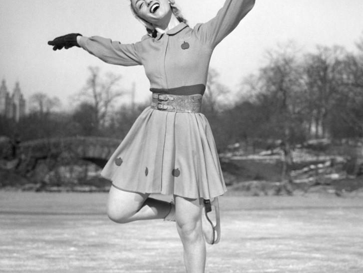 Woman ice skating_ Happiness