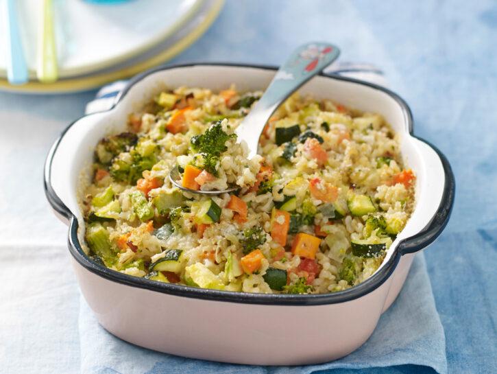 Riso al forno con verdure