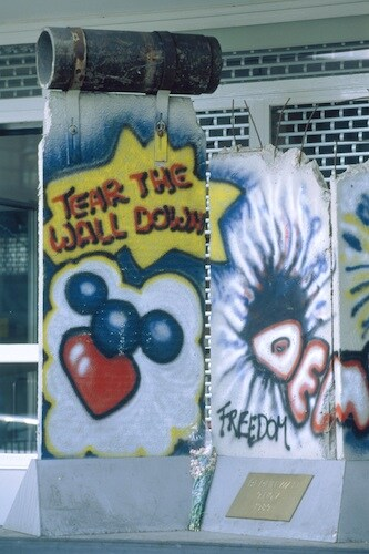 Graffiti on parts of the Berlin wall