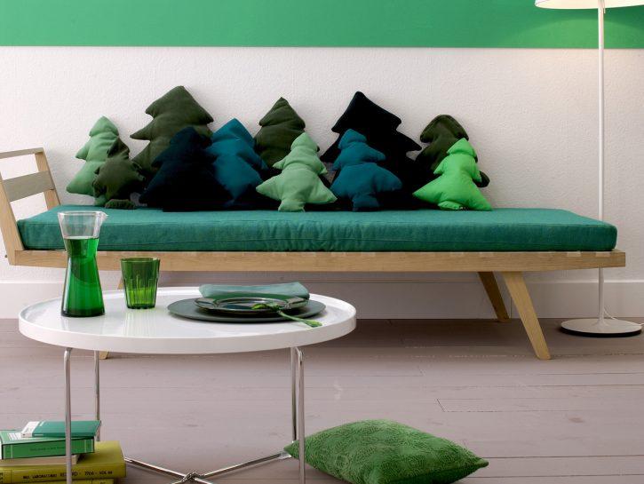 Come fare cuscini a forma di abete: decorazioni natalizie