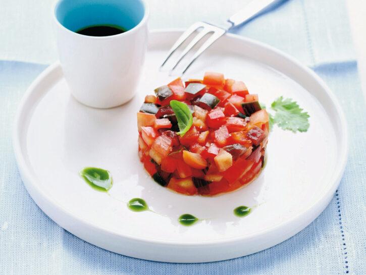 Tartare di pomodori con salsa verde