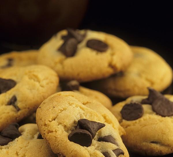 I biscotti con le gocce di cioccolato