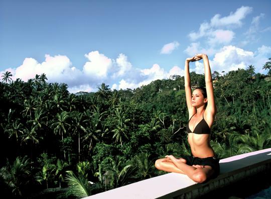 Yoga at the Four Seasons Resort, Ubud, Bali, Indonesia, Southeast Asia, Asia