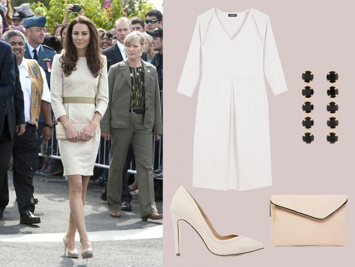 Kate Middleton in total look color cipria