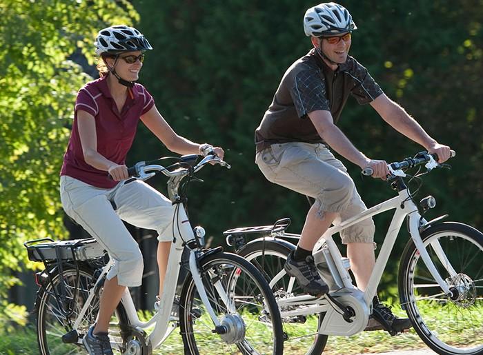 che fisico con la bici elettrica!