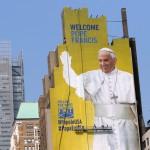 Il murales di benvenuto a pochi passi dalla sede del New York Times
