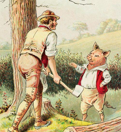 C'erano una volta tre piccoli porcellini, che vivevano vicini al bosco tutti insieme, da buoni frate